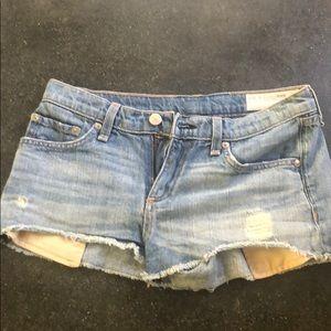 Rag & Bone Mila Cutoff Denim Shorts in Moss
